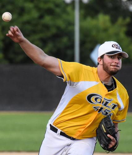 Eamon Velarde pitches against the West Coast Kings, June 2, 2019. Photo by Bill Wagner