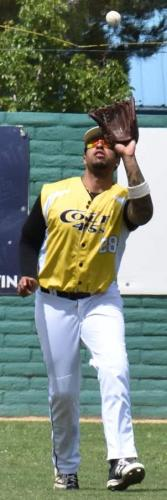 2017 Colt 45s Isaiah Terry grabs a pop fly for an out