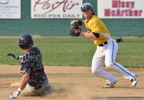 Colt 45s July 30 Curtis Perrin turns two as Daniel Teasly slides late at second
