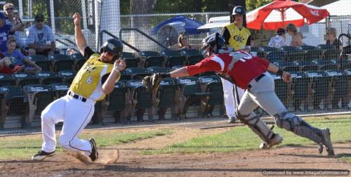 Colt 45s July 9 Wilson Kessel eludes Portland catcher Justin Henningson to score in the first inning 2