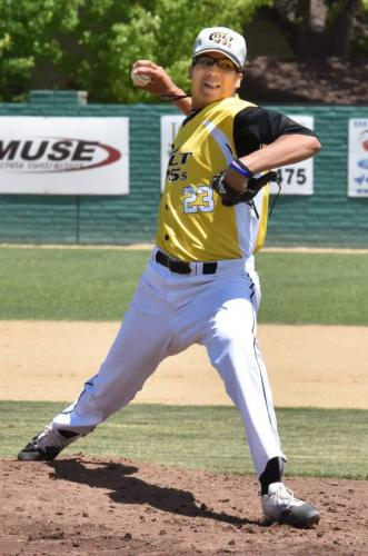 Matt Green pitching