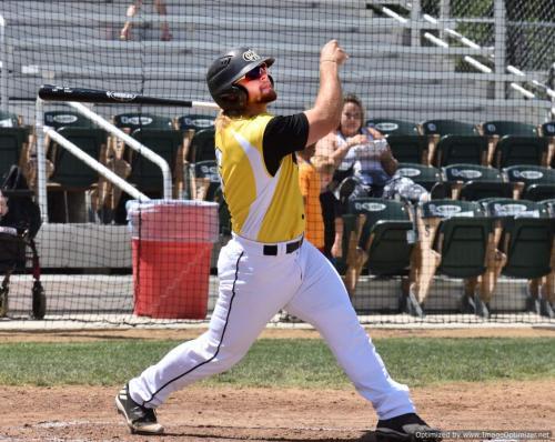 Wilson Kessel admires 2nd inning HR after it left his bat