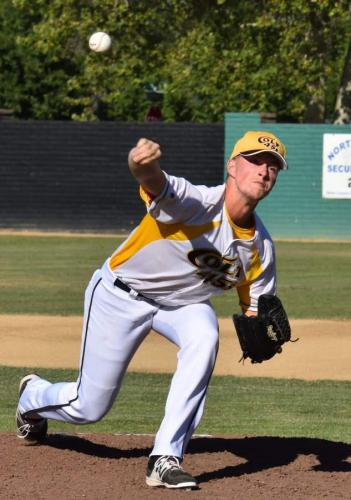 Cody Coggins delivers first inning pitch